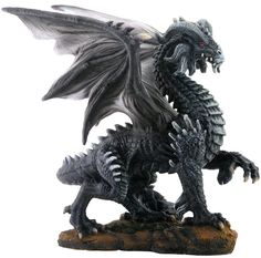 """Amazon.com: Custom & Unique {8"""" x 5.3"""" Inch} 1 Single, Home & Garden """"Standing"""" Figurine Decoration Made of Resin w/ Dark Mythological Majestic Bold Posing Gothic Winged Dragon Style {Assorted Color}: Home & Kitchen"""