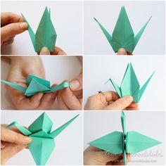 Cómo hacer grullas de origami y armar un móvil - Guía de MANUALIDADES Kawaii, Cool Stuff, Diana, Baby Mobiles, How To Make, Crochet Baby Mobiles, Papercutting, Kawaii Cute