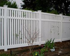 semi private vinyl fence - Google Search