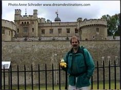 Hank & Travel Bug oustide the Tower of London 1998 London England