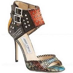 Jimmy Choo Elapheskin Eelskin Sandals