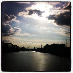 Dublin at Dusk Dusk, Dublin, Ireland, Celestial, Sunset, Places, Outdoor, Sunsets, Outdoors