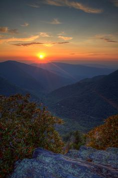 The Smoky Mountain Chimney Tops are gorgeous at sunset. Photo by Scott Oves #endorsed