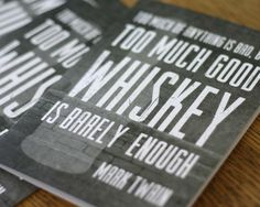 Funny Father's Day Cards: Too Much Whiskey Father's Day Card | Cool Mom Picks