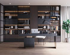 Minotti Work Room on Behance Modern Home Offices, Small Home Offices, Modern Office Design, Office Furniture Design, Home Office Space, Office Interior Design, Home Office Decor, Office Interiors, Office Ideas