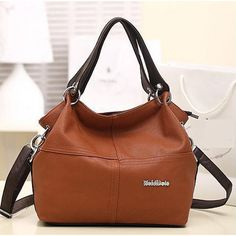 Soft Medium PU Leather Shoulder Bags With Interior Secret Pocket