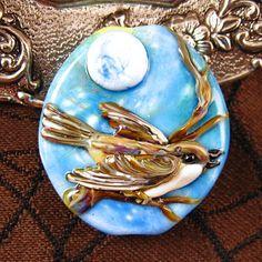 Lampwork Little Bird Focal Bead by Kerribeads von kerribeads, $125,00