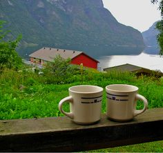 I'll take a fjord and a cup of coffee any day!