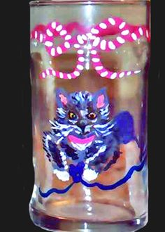 Grey or Russian Blue Hand painted Cat Glasses http://www.clearlysusan.com/Grey-or-Russian-Blue-Cat-Drinking-Glasses-_p_114.html $28.00