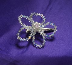 Flower Hair Clips  Swarovski Crystal  & by Makewithlovecrafts, £5.50