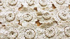 Flor do laço apliques Crochet Vintage ou  Flower Lace Appliques Vintage Crochet .