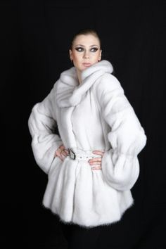 white mink coat by Mailon Furs, Kastoria, Greece