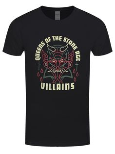 4d6cc285a01 Queens Of The Stone Age Villians Men s Black T-Shirt