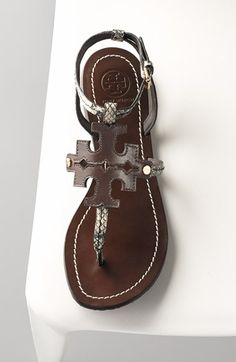 Tory Burch Chandler black, white, brown sandals (black/ivory/coconut) These sandals are so comfortable!