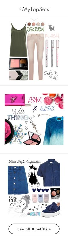 """#MyTopSets"" by juromi on Polyvore featuring moda, VILA, IRO, Terre Mère, GREEN, blush, Lancôme, Topshop, Brinley Co i Clinique"