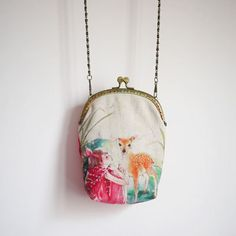 Fawn Vintage style Metal frame purse/coin purse / by hitomigift