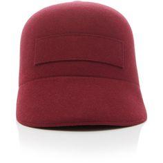 Baseball Cap | Moda Operandi (€375) ❤ liked on Polyvore featuring accessories, hats, wool hat, baseball hat, woolen hat, ball cap and baseball cap hats