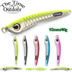 "10 x 4/"" 120 g Glow Metal Slow Jigging Lure Vertical Jig Tuna Fishing Bait"