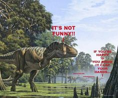 Tyrannosaurus Rex happy