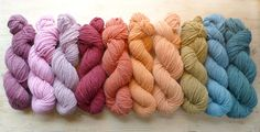 Skeins Of Plant Dyed Merino Farm Yarn, Made In Vermont, natural dye. I LOVE THIS!