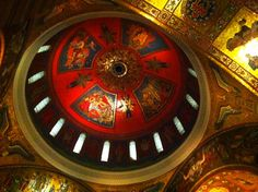 Cathedral dome Captain America, Cathedral, Symbols, Spaces, Art, Capitan America, Icons, Cathedrals, Kunst
