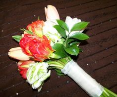 Tulip Bridal Bouquet, french and parrot tulips http://www.weddingandpartynetwork.com/gallery/photo/1764/#