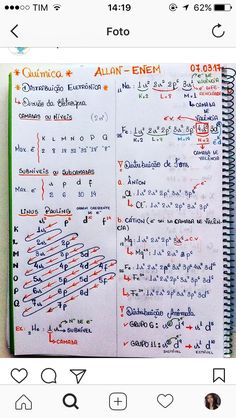 Distribuição eletrónica, Cátions e ânions Chemistry Notes, Chemistry Lessons, Teaching Chemistry, Chemistry Class, Medicine Notes, Medical Laboratory Science, Study Organization, Study Planner, School Notes