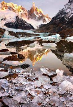 Sunrise Cerro Torre, Patagonia, ...