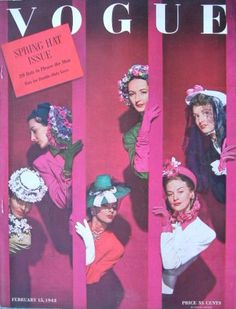 VOGUE US 1942 Feb 15 SPRING HATS - VOGUE USA 1942 - Vintage Fashion Publications