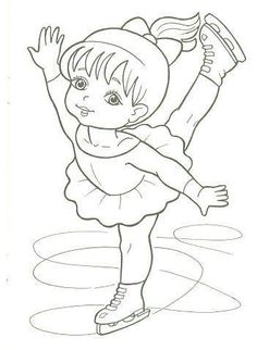 Ice Skater Coloring Page Lovely Figure Skater Coloring Pages to and Print for Free Sports Coloring Pages, Coloring Book Pages, Coloring Pages For Kids, Coloring Sheets, Human Drawing, Art Drawings For Kids, Christmas Coloring Pages, Digi Stamps, Christmas Colors