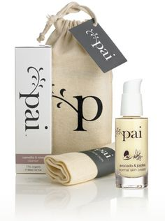 pai skincare, organic skincare for sensitive skin in gorgeous packaging
