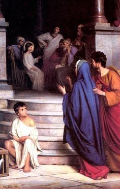 Jesus, as a boy, instructing the Elders in the Temple