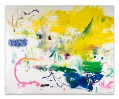 Christian Rosa  Hip-Hop, 2013 oil and oilstick on canvas, titled in pencil at upper left 72 x 84 in., 182.9 x 213.4 cm : Lot 89