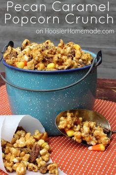 Pecan Caramel Popcorn Crunch :: Recipe on HoosierHomemade.com  #ThinkFisher