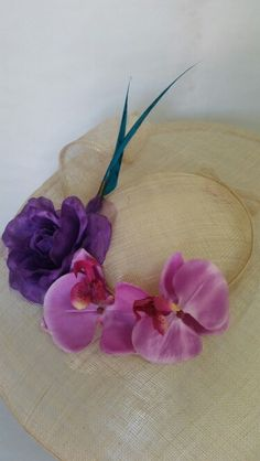 Pamela ala de 40 cm en sinamay natural. 100% handmade by Veruca