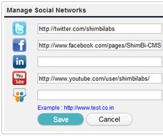 CMS Budo made it very easy to connect website with social networking websites. Social Networking Module, allow to connect your website with Facebook, Twitter, Linked In, YouTub etc.