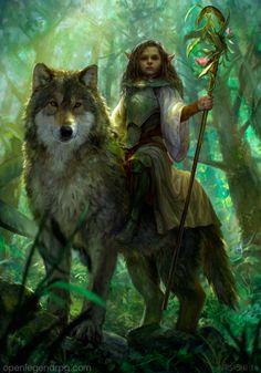 "missnoonwraith: "" Forest princess by VargasNi """