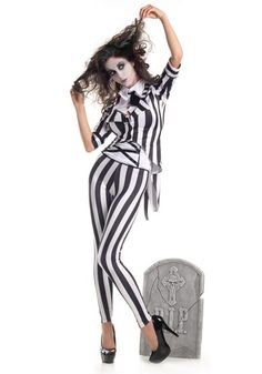 Beetlejuice costume by princessieromustdie on polyvore featuring turn yourself into the ghost with the most when you wear this adult graveyard ghost costume solutioingenieria Choice Image