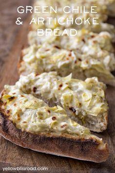 Green Chile & Artichoke Bread
