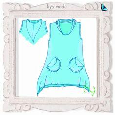Oberteile & Jacken - hys-mode Schnittmuster Lagenlook Tunika MARVA - ein Designerstück von bien-art_hys-mode bei DaWanda