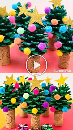 Super cute and easy holiday craft or art project the kids can make too! This Pine Cone Christmas Tree is one of the easiest and cutest holiday craft you'll ever make. Kids will love making this cute Christmas Tree craft! Pine Cone Christmas Tree, Christmas Tree Crafts, Simple Christmas, Pine Tree, Christmas Christmas, Kids Holiday Crafts, Thanksgiving Holiday, Christmas Projects For Kids, Pine Cone Christmas Decorations