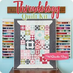 Threadology Quilt Along Quilt Kit Reservation Featuring Little Snippets by Moda Fabrics - Block of the Month Quilts & Programs Quilt Block Patterns, Pattern Blocks, Quilt Blocks, Star Blocks, Sampler Quilts, Star Quilts, Mini Quilts, Quilting Tutorials, Quilting Projects