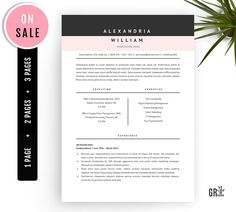 Making A Resume On Word Cv Template With Cover Letter Creativework247  Resume Templates .