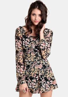 Spring Doll Floral Romper at #threadsence @ThreadSence