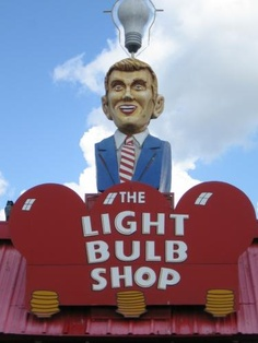 The Light Bulb Shop in Austin, TX. A whole store just for light bulbs! Weird Austin in all its glory!
