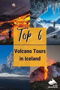 Iceland is known as the land of fire and ice, with the country's many spectacular volcanoes give it the 'fire'! Here are 6 of the best volcano tours that you can take! Tours In Iceland, Iceland Travel Tips, Volcano Iceland, Cultural Events, Fire And Ice, Arctic, Volcanoes, Adventure, Country