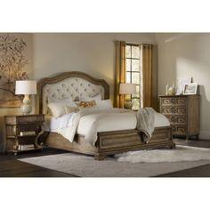 Hooker Furniture 5291-90116 Solana One Drawer Leg Nightstand in Light Wood