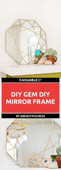 DIY mirror frames ar