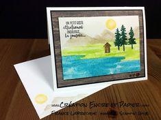 Stampin'Up! Carte Amitié / Anniversaire / Encouragement Friendship / Birthday / Get well Card Étampes Au Bord de l'Eau Waterfront Stamp Set Technique Aquarelle Watercolor Technique www.creationencreetpapier.com