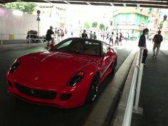 The Ferrari neary Shinyuku station.